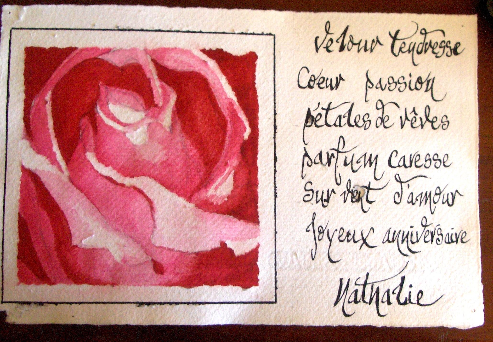 Carte d'Anniversaire, Avril 2006